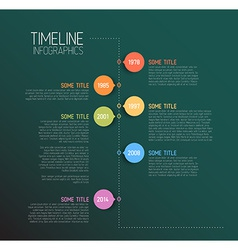 Teal Infographic timeline report template vector