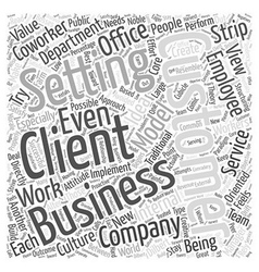 The Client Coworker Word Cloud Concept vector
