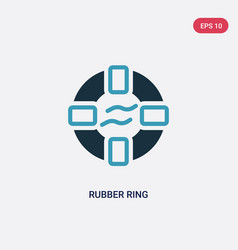 Two color rubber ring icon from summer concept vector