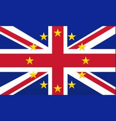 uk flag with eu stars vector image