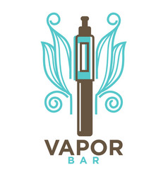 Vapor bar logo design isolated on white vape e vector