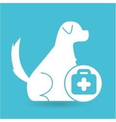Veterinary clinic concept first aid vector