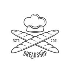 vintage retro bakery logo badge or label vector image