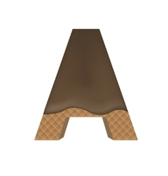 Wafer A letter vector image