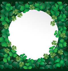 white paper on shamrock leaves vector image