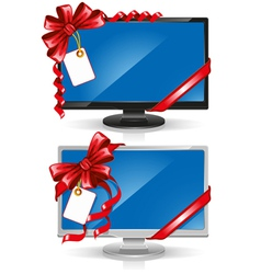 widescreen monitor vector image