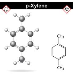 Xylene molecule vector