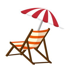 Isolated beach chair vector