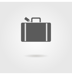 luggage icon with shadow vector image