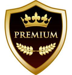 premium gold shield vector image vector image