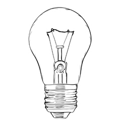 Hand-drawn light bulb on white background EPS8 vector image