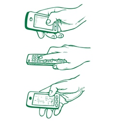 up the remote and phone vector image vector image