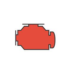 check engine icon vector image vector image