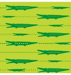 Crocodile seamless pattern vector image
