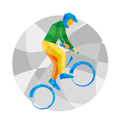 cycling bmx with abstract patterns vector image vector image