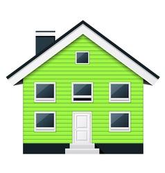 Green scandinavian condominium - townhouse vector image