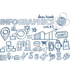 hand draw infographics vol 3 marketing vector image