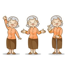 old woman vector image