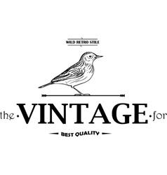 Vintage Labels or Badges Birds vector image vector image