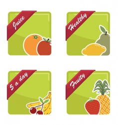 fruit squares vector image vector image