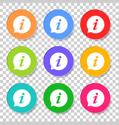 information icon in flat style isolated on vector image
