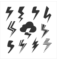 Set of Symbols Lightning vector image