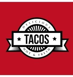 Tacos Vintage stamp vector image