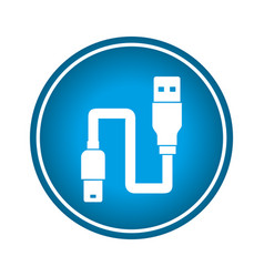 usb wire cable connection vector image