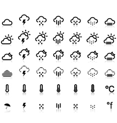 Weather Icons in White Background vector image vector image