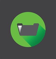 0210g flat folder icon vector image