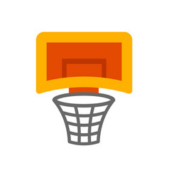 a basketball hoop vector image
