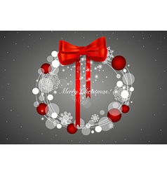 Abstract Christmas background with Christmas vector image