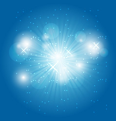 Abstract ray light on blue background vector