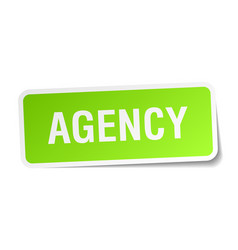 Agency square sticker on white vector