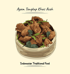 Ayam tangkap spices fried chicken vector