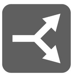 Bifurcation Arrow Right Flat Squared Icon vector