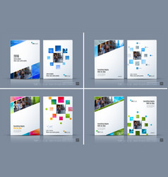 business template brochure layout cover vector image