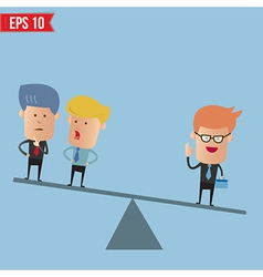 Business weighs more than 2 guys - - eps10 vector