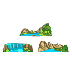 Canada sightseeing signs or canadian nature set vector