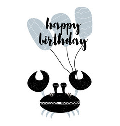 card with calligraphy lettering happy birthday in vector image