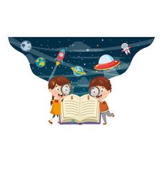 Children background vector