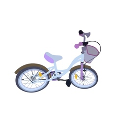 Children Bicycle Isolated vector image