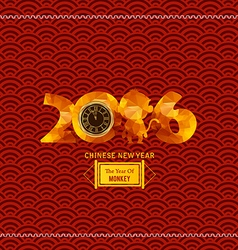 Chinese New Year Year of the monkey vector