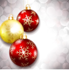 Christmas balls on a beautiful background vector image