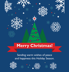 christmas card with fir-tree vector image
