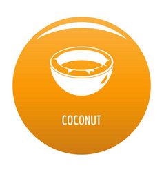 Coconut icon orange vector