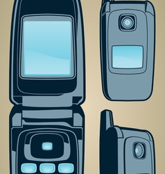 color cellphone set vector image