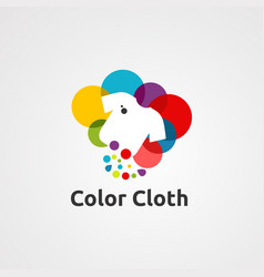 color cloth logo icon element and template for vector image