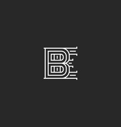 Creative initials be logo monogram overlapping vector