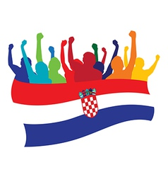 Croatia fans vector